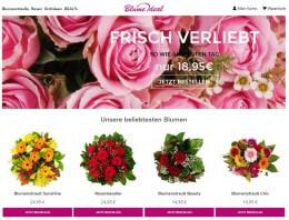 Webseite vom Blumenlieferservice Blume Ideal