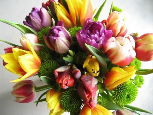 Ein schöner bunter Strauss vom Blumenlieferservice