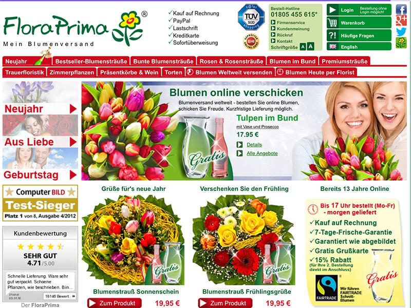 Blumen online verschicken auf rechnung